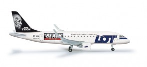 "Lot Polish ERJ-175 ""Mike Tyson-Black Energy"" Herpa, HE526319, 1:500"