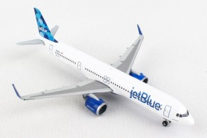"jetBlue's first Airbus A321neo ""Ballons"" tail design N2002J Herpa 533805 scale 1:500"