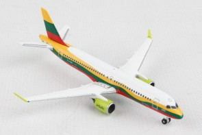 """Air Baltic Airbus A220-300 """"Lithuania"""" YL-CSK Herpa 534123 scale 1:500"""