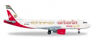 "Air Berlin/Etihad A320 Combined Livery ""Moving Forward"" Reg# D-ABOU Herpa 556569 Scale 1:200"