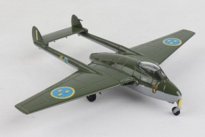 Royal Swedish Air Force DH Vampire J28B die cast Herpa 580625 scale 1:72