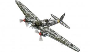 Heinkel He-111 H-6 Crashed behind German Lines Yukhnov West of Moscow 21st January 1942 Corgi CG33718 Scale 1:72