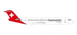 Helvetic Airways Fokker 100 HB-LVF Herpa 559324 scale 1:200