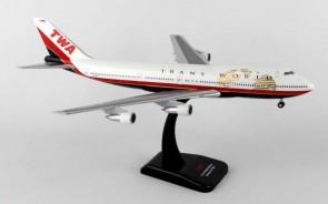 TWA Boeing 747-100 Reg# N93108  W/Gear & Stand Hogan HG0229G Scale 1:200