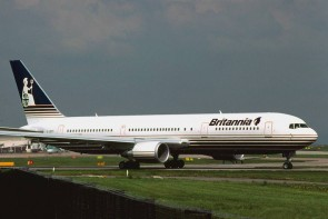 Britannia 767-300ER W/Gear HG0908G Hogan 1:200