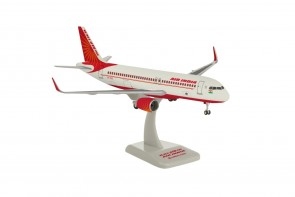 A320 1/200 This plastic model airplane comes in 1/200 scale with landing gear and stand. Model is approximately 7 ¼ inches long with 7 inch wingspan.