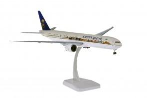 Saudia Boeing 777-300ER LandmarkHZ-AK28  gears & stand Hogan HG11168G scale 1:200