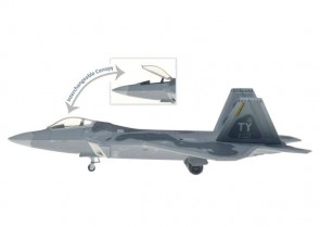 USAF F-22A Raptor 021 Tyndall AFB Open or Closed Canopy HG60456 Scale 1:200