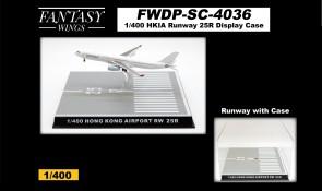 Hong Kong Runway 25R Display Case by Fantasy Wings FWDP-SC-4036 scale 1:400