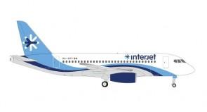 Interjet Mexico Sukhoi Superjet 100 SSJ100 XA-PPY Herpa 534710 scale 1:500