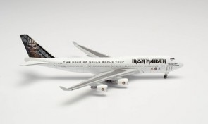 """Iron Maiden Boeing 747-400 """"Ed Force One"""" The Book of Souls World Tour 2016 TF-AAK 535564 scale 1:500"""
