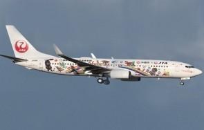 "Flaps down JAL Japan Transocean Air Boeing 737-800 JA11RK ""Amami & Ryukyu World Heritage Livery""JCWings EW2738016A scale 1:200"