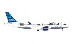 """JetBlue Airbus A220-300 """"Hops"""" Tail N3044J die-cast Herpa 535298 scale 1:500"""