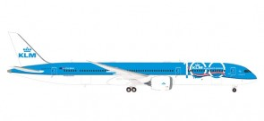 KLM Boeing 787-10 PH-BKA 100 Years large logo Dreamliner Herpa 570589 scale 1:200