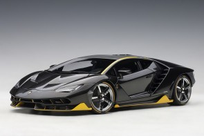 Lamborghini Centenario Clear Carbon With Yellow Accents AUTOart 79114 scale 1:18