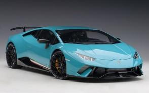 Lamborghini Huracan Performante Solid Blue Blue Clauco AUTOart 12077 Scale 1:12