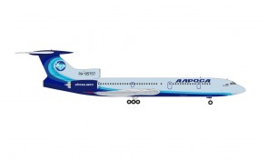 Last Tupolev Flight Alrosa TU-154M Алроса RA-85757 October 28 2020 Herpa 571388 scale 1:200