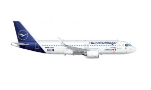 "Lufthansa Airbus A320Neo ""Hauptstadtflieger"" D-AINZ ""BER"" Herpa Wings 535090 scale 1:500"