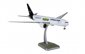 "Lufthansa Cargo ""Human Care"" Boeing 777F D-ALFI new livery stand & gears Hogan HGDLH020 scale 1:200"