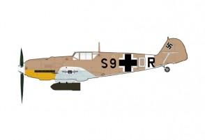 Luftwaffe BF 109E-7 Model Ribia, 1942 die-cast Hobby Master HA8719W scale 1:48