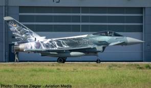 Luftwaffe Eurofighter Typhoon Sword of Boeicke Herpa die cast 580663 scale 1:72