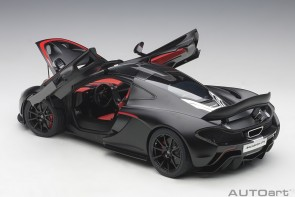 McLaren P1 Matt Black with Red Accents AUTOart 12241 scale 1:12