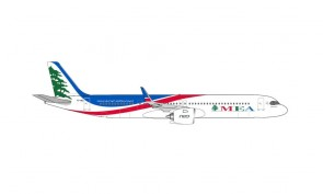 MEA Airbus A321neo Middle East Airlines Herpa 534949 scale 1:500