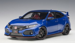 Metallic blue Honda Civic Type R (FK8) brilliant sporty blue color AUTOart 73269 scale 1:18