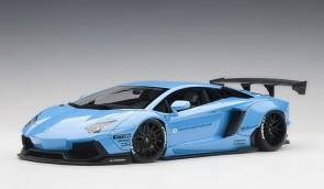 Metallic blue Liberty Walk LB-Works Lamborghini Aventador Metallic Sky Blue 79107 scale 1:18
