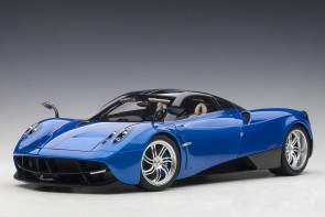 Metallic Blue Pagani Huayra Silver Wheels AUTOart 12232 scale 1:12
