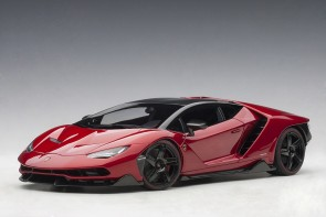 Metallic Red Lamborghini Centenario Rosso Efesto AUTOart 79112 scale 118