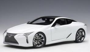 Metallic white Lexus LC500 AUTOart 78846 die cast AUTOart scale 1:18