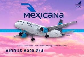 Mexicana One World Airbus A320-214 El Aviador EAV400-XA-MXK scale 1:400