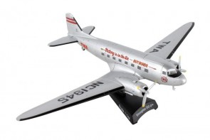 "TWA Douglas DC-3 ""Buy Bonds"" Postage Stamp PS5559-4 scale 1:144"