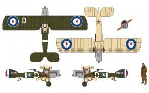 New tool! Bristol F.2B RAF No.139 Squadron Villaverla Italy September 1918 WWI Corgi CG28801 Scale 1:48