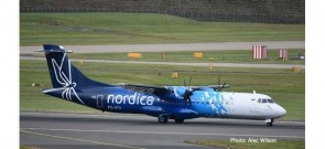 Nordica ATR-72-600 ES-ATA die cast Herpa 533782 scale 1:500