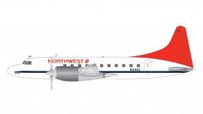 Northwest Convair CV-580 N3423 1980's livery Gemini G2NWA807 scale 1:200