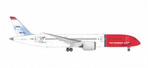 Norwegian 787-9 Babe Ruth G-CKMU Dreamliner Herpa 559140 Scale 1-200