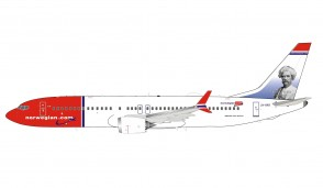 Norwegian Air Shuttle Boeing 737-8 Max Mark Twain tail LN-BKB stand InFlight IF73MDY1220 scale 1:200