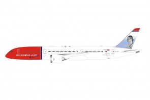 Norwegian Air Shuttle Boeing 787-9 Dreamliner LN-LNP with stand die-cast model Inflight IF789DY1021 scale 1:200