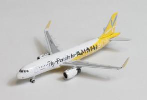 Peach Fly Peach to AMAMI  Airbus A320 JA08VA Phoenix 04402 die-cast model scale 1:400