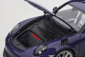 Porsche 911 GT3 RS Ultraviolet/Silver Wheels AUTOart 78169 scale 1:18