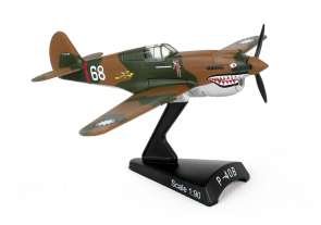Postage Stamp die-cast display models colection P-40B Warhawk WWII by Postage Stamp Models PS5354-1 scale 1:90 Hell's Angels