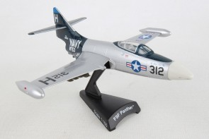 US Navy F-9F Panther Silver/Black Postage Stamp PS5393-3 scale 1:100