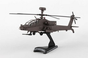 US Army AH-64D Apache Helicopter Longbow die-cast Postage Stamp PS5600 Scale 1:100