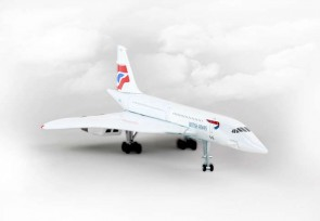 Clouds PS5800-2 British Airways Concorde Reg# G-BOAD die cast Postage Stamp PS5800-2 1:350