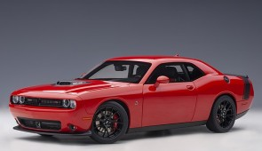 Red Dodge Challenger 392 Hemi Scat Pack Shaker 2018, Tor Red AUTOart 71741 scale 1:18
