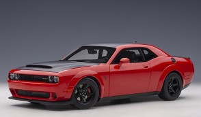 Red Dodge Challenger Demon SRT Tor Red/Satin Black Graphic Package AUTOart 71749 scale 1:18