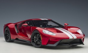 Red Ford GT 2017 Liquid Red/Silver Stripes AUTOart 12106 die-cast model scale 1:12