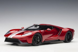 Red Ford GT 2017 Liquid Red/Silver Stripes AUTOart 72943 die-cast model scale 1:18